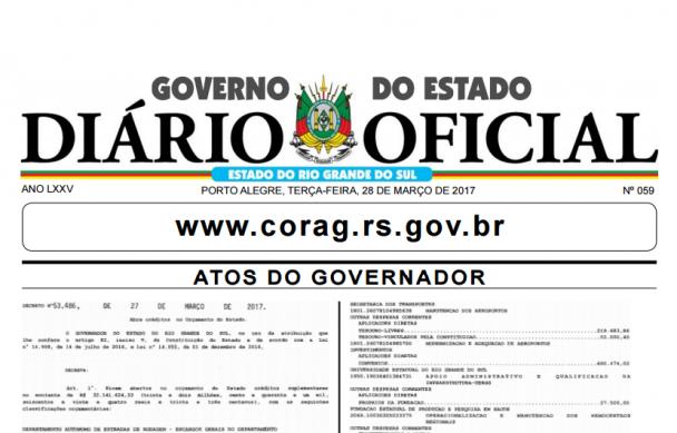 Diário Oficial do Estado do Rio Grande do Sul - 28 de março de 2017